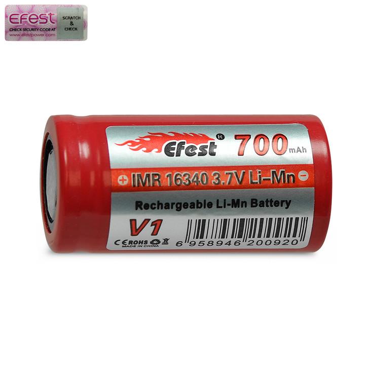 Efest 16340 700mAh Battery