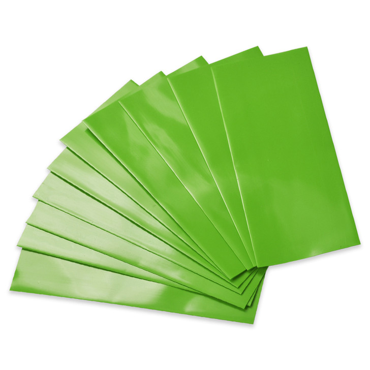 18650 Battery Wraps - 10pcs - Lime Green