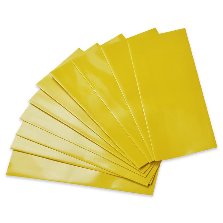 18650 Battery Wraps - 10pcs - Yellow