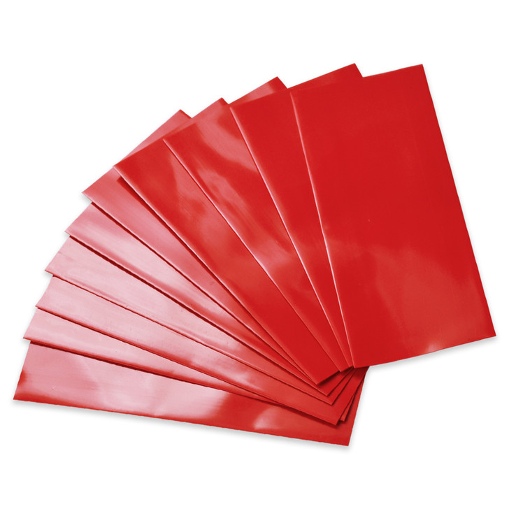 18650 Battery Wraps - 10pcs - Red