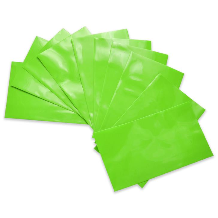 26650 Battery Wraps - 10pcs - Lime Green