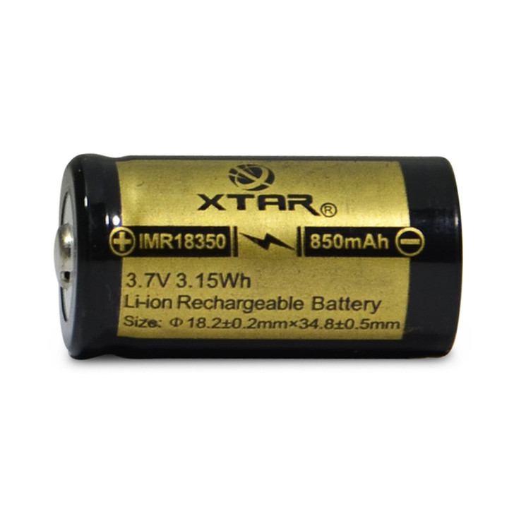 XTAR 18350 850mAh Battery - Button Top