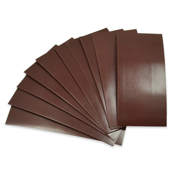 18650 Battery Wraps - 10pcs - Chocolate Brown