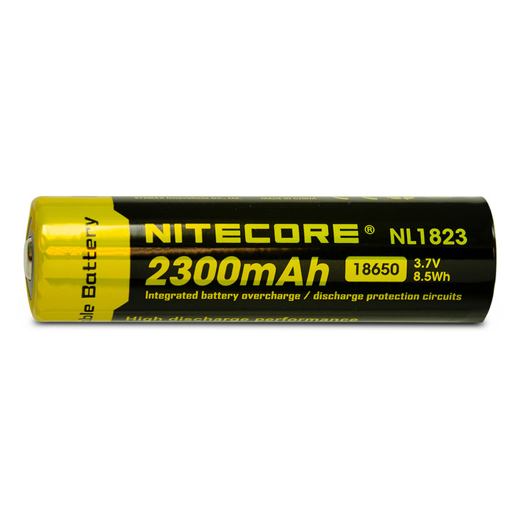 Nitecore NL1823 18650 2300mAh Battery - Protected Button Top