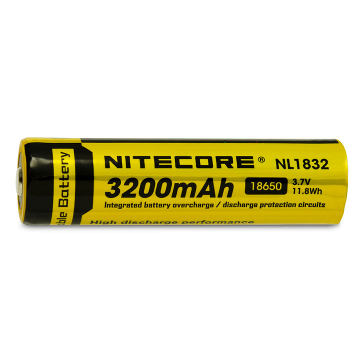 Nitecore NL1832 18650 3200mAh Battery - Protected Button Top