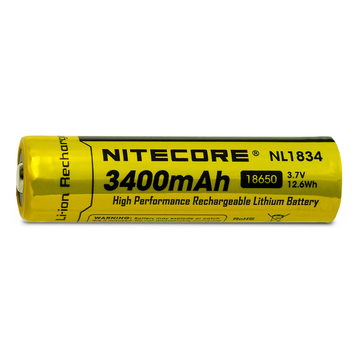 Nitecore NL1834 18650 3400mAh Battery - Protected Button Top