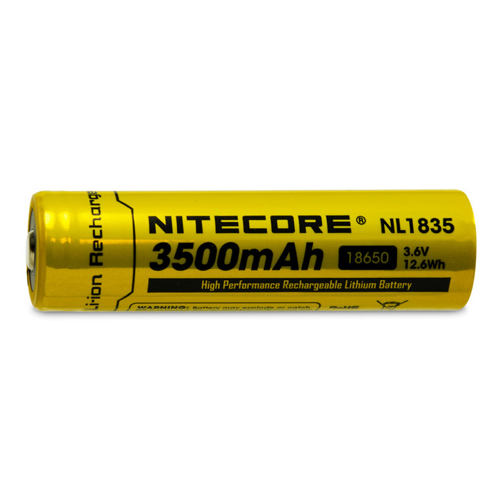 Nitecore NL1835 18650 3500mAh Battery - Protected Button Top