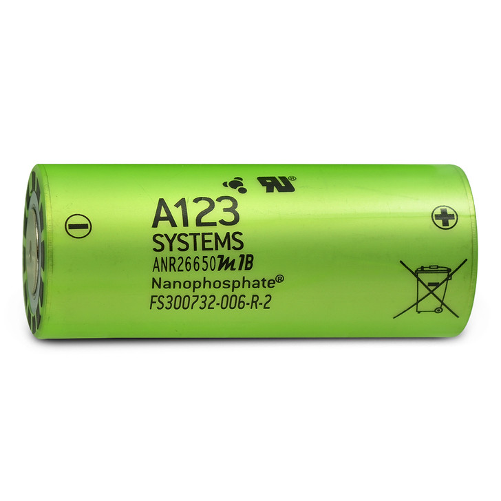 A123 Systems ANR26650 2500mAh 50A Battery