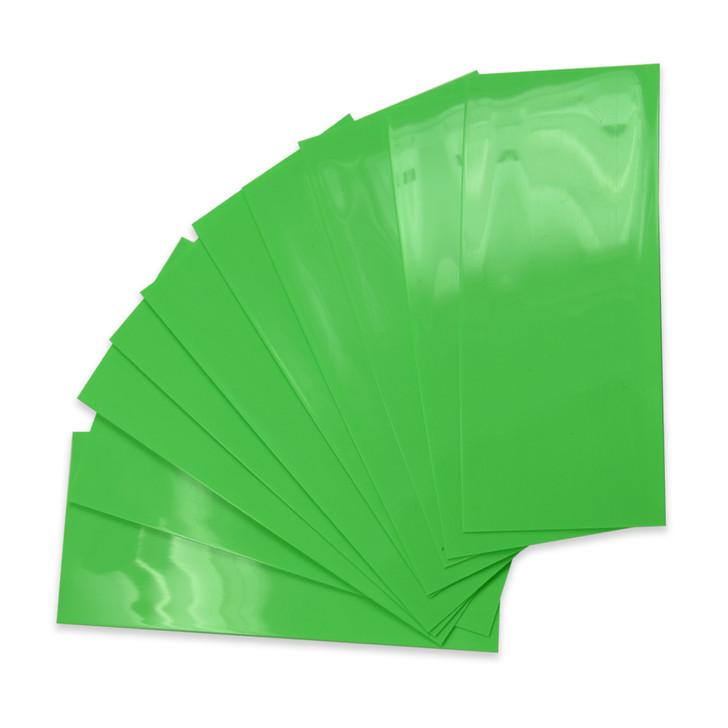 20700 Battery Wraps - 10pcs - Lime Green