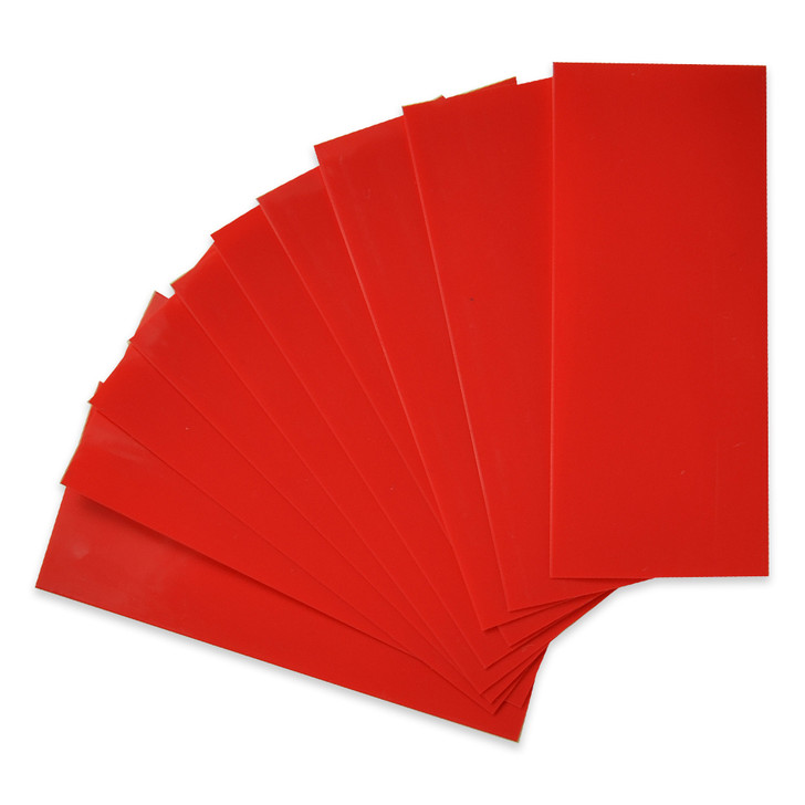 20700 Battery Wraps - 10pcs - Red