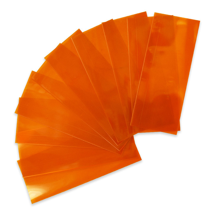 18650 Battery Wraps - 10pcs - Translucent Orange