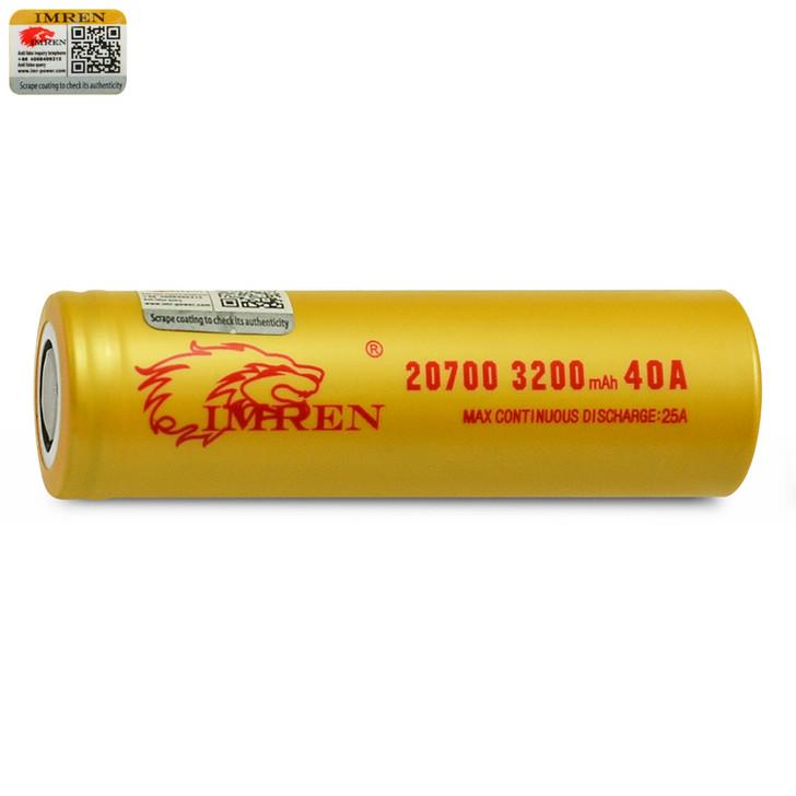 IMREN 20700 3200mAh 25A Battery