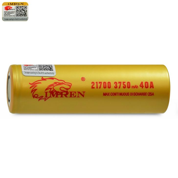 IMREN 21700 3750mAh 25A Battery