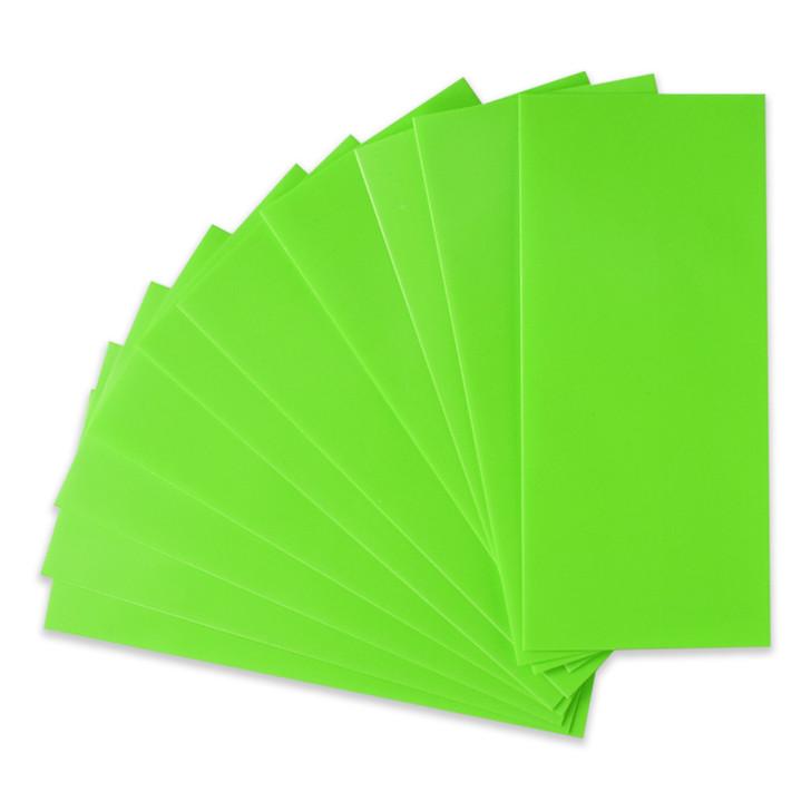 21700 Battery Wraps - 10pcs - Lime Green