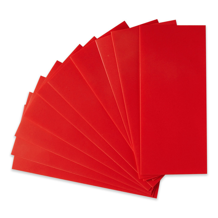 21700 Battery Wraps - 10pcs - Red