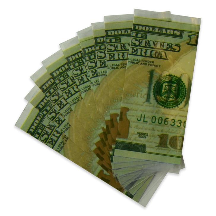 18650 Battery Wraps - 10pcs - 100 Dollar Bill