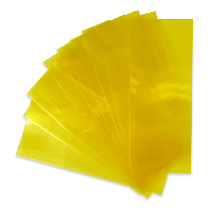 18650 Battery Wraps - 10pcs - Translucent Yellow