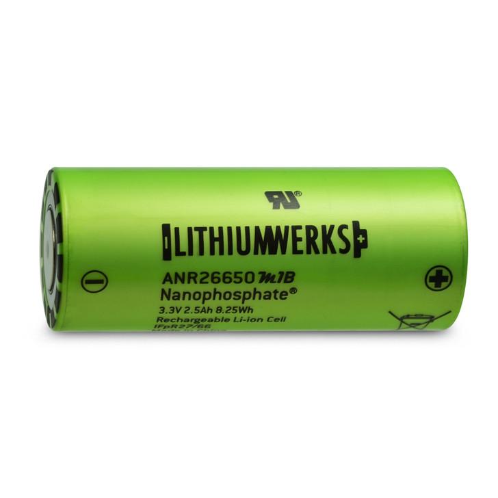 Lithium Werks ANR26650M1B 2500mAh 50A LiFePO4 Battery