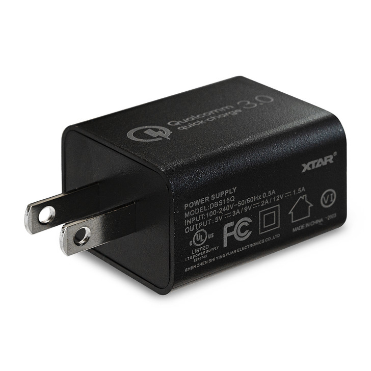 XTAR Quick Charge QC3.0 3A 18W USB Wall Adapter
