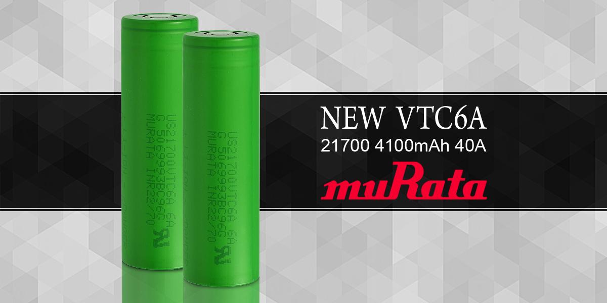 Murata VTC6A 21700 4100mAh 40A Battery