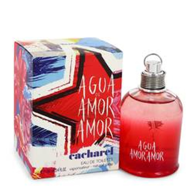 Agua De Amor Amor by Cacharel 3.4 oz Eau De Toilette Spray for Women