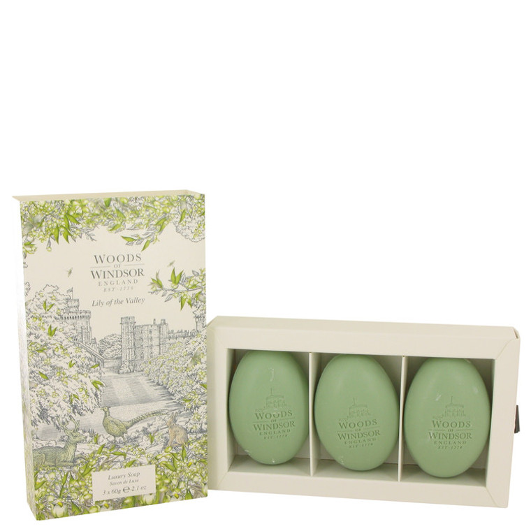 Lily Of The Valley (woods Of Windsor) by Woods of Windsor 2.1 oz Three 2.1 oz Luxury Soaps for Women