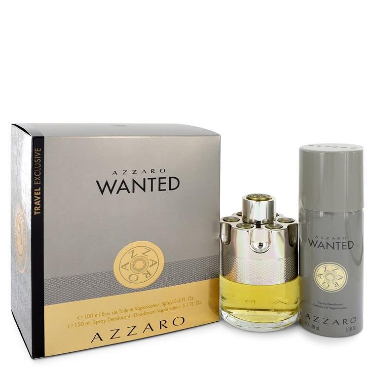 Wanted by Azzaro -- Gift Set - 3.4 oz Eau De Parfum Spray + 5.1 oz Deodarant Spray for Men