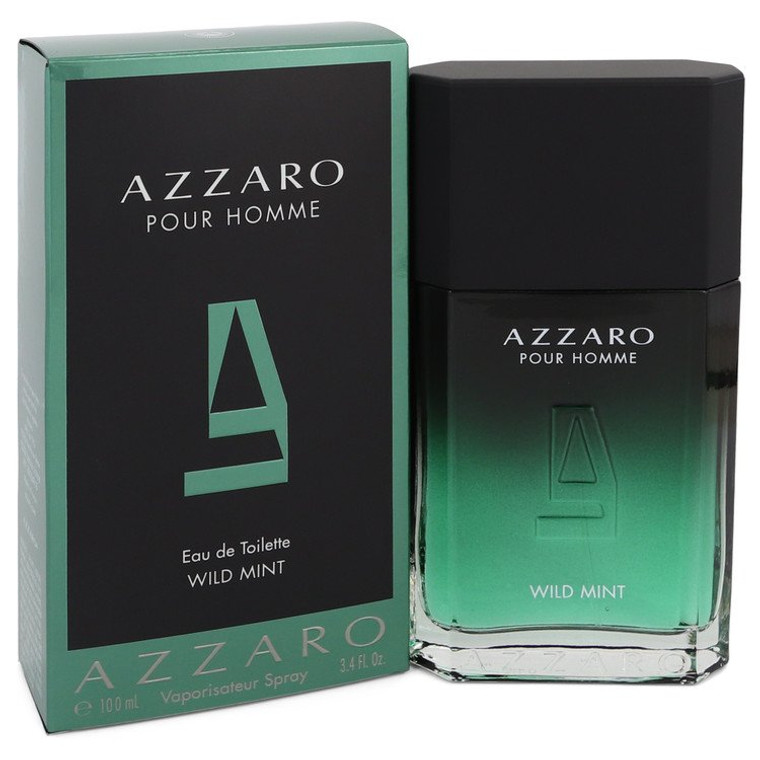 Wild Mint by Azzaro 3.4 oz Eau De Toilette Spray for Men