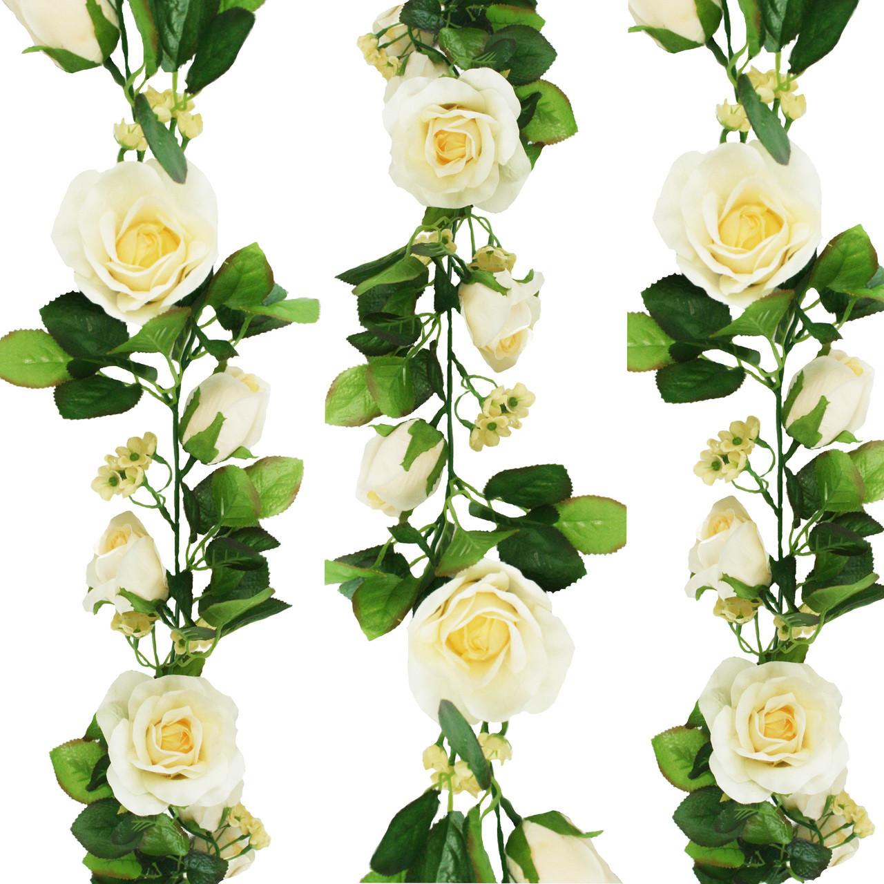 Butter Yellow Silk Rose Garland
