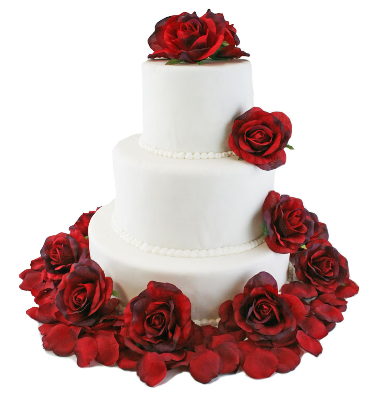 Red Rose Flower Cake Toppers Silk Flowers For Cake Wedding Cake Flowers Decorations Beautiful Wedding Cakes With Flowers