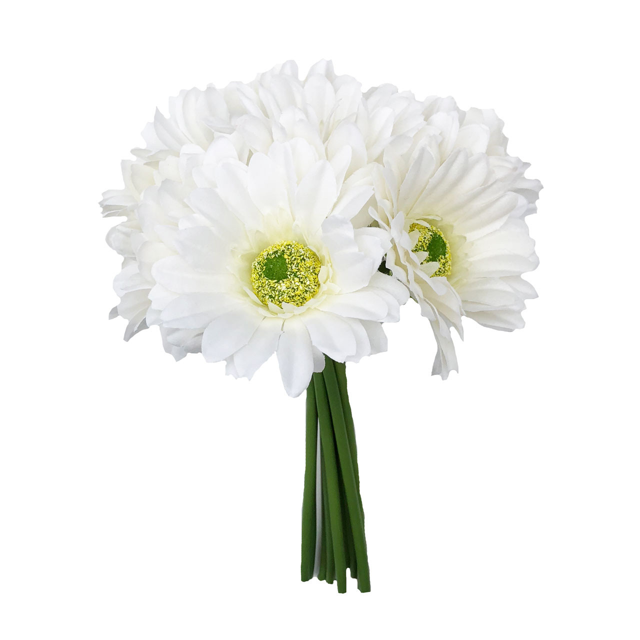 Ivory Daisy Bouquet Small Silk Wedding Flower 9 Stem