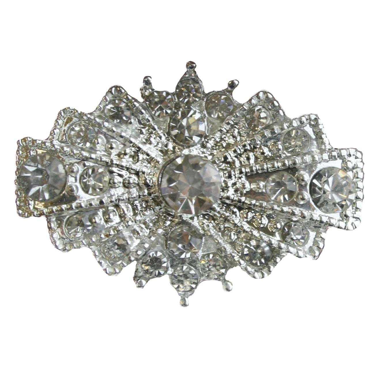 3705ee908c1 3 pcs ART DECO Flatback Style Rhinestone Embellishment Vintage Wedding  Bridal Accessories Invitations Crystal Bouquet Hair Clip Jewelry Button  Brooch ...