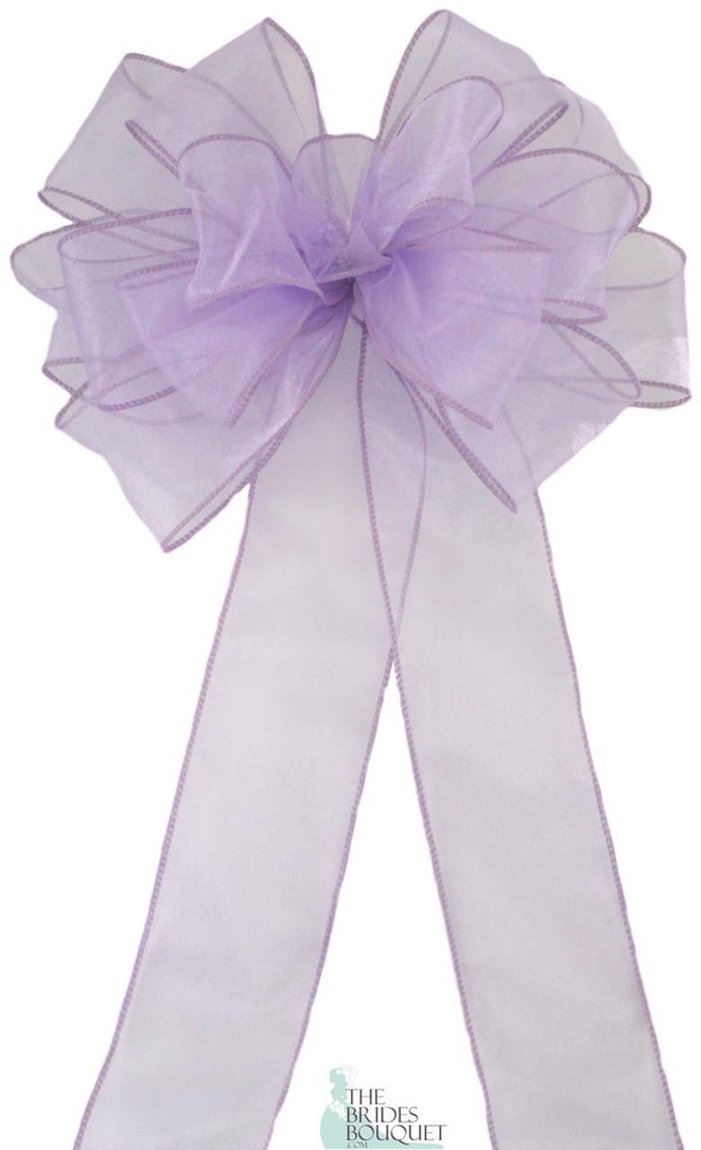 Pew Bows Lavender Wedding Bows Wedding Pew Decorations Church Wedding Decorations Set Of 4 Bows