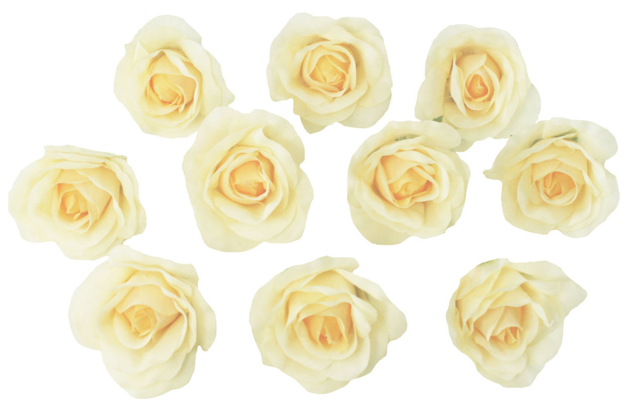 Yellow Rose Heads Artificial Flowers Wedding Centerpieces Silk Roses Faux Flowers Wedding Decorations Flowers In Bulk 10 Heads