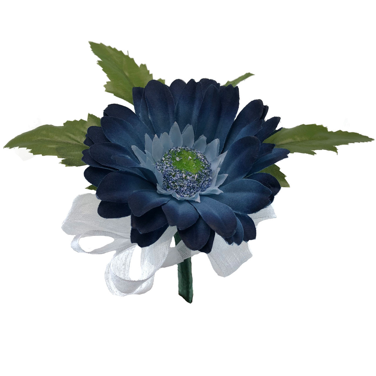Wedding Flowers Corsage Ideas: Blue Daisy Wedding Corsages