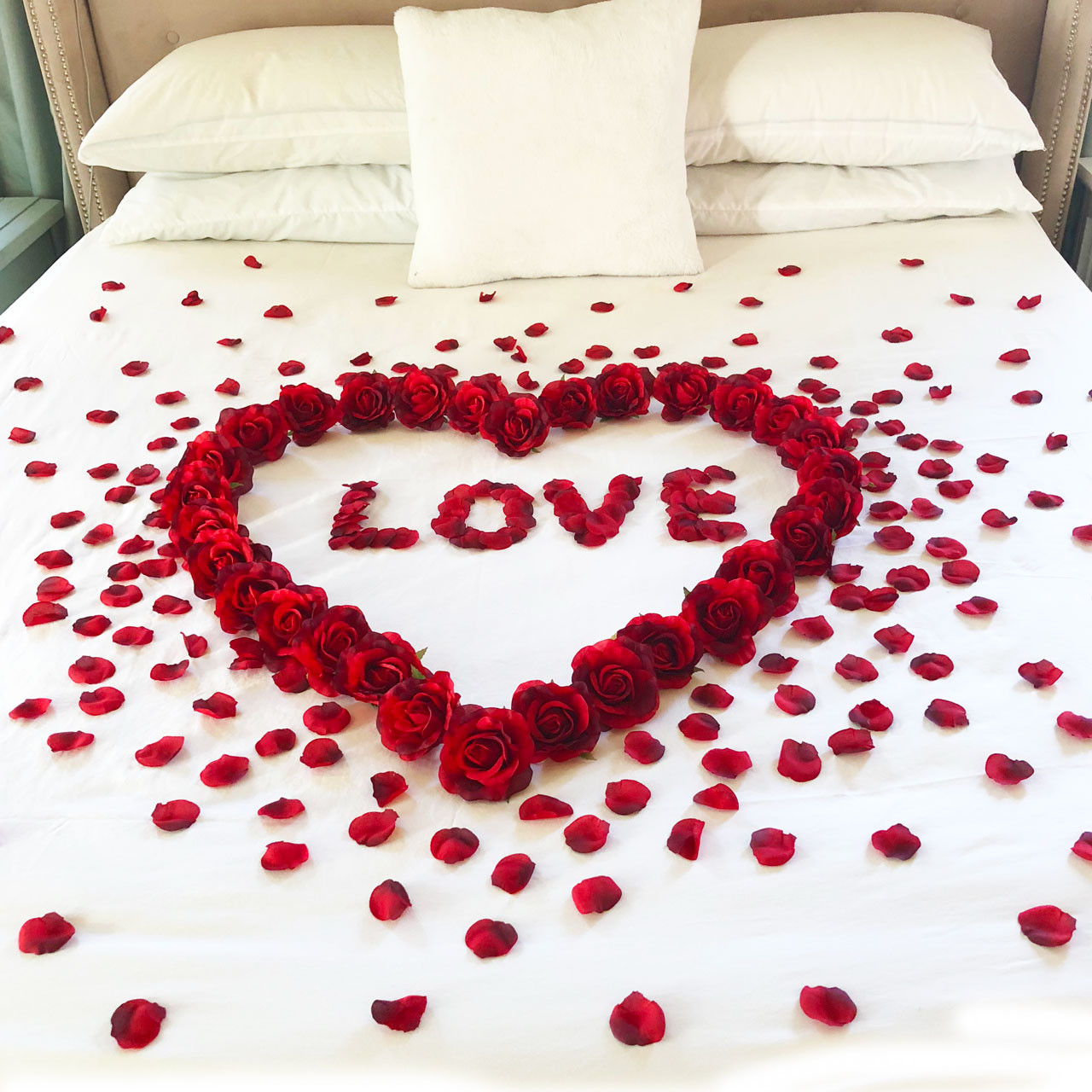 Red Roses Petals Love Romance Decoration Package