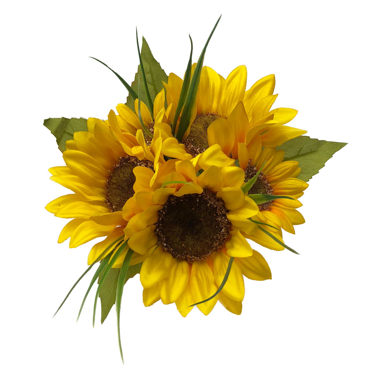 Petite Bouquet Of 5 Gorgeous Sunflowers! Measures About 8 Inches Across.  Perfect For Bridesmaids