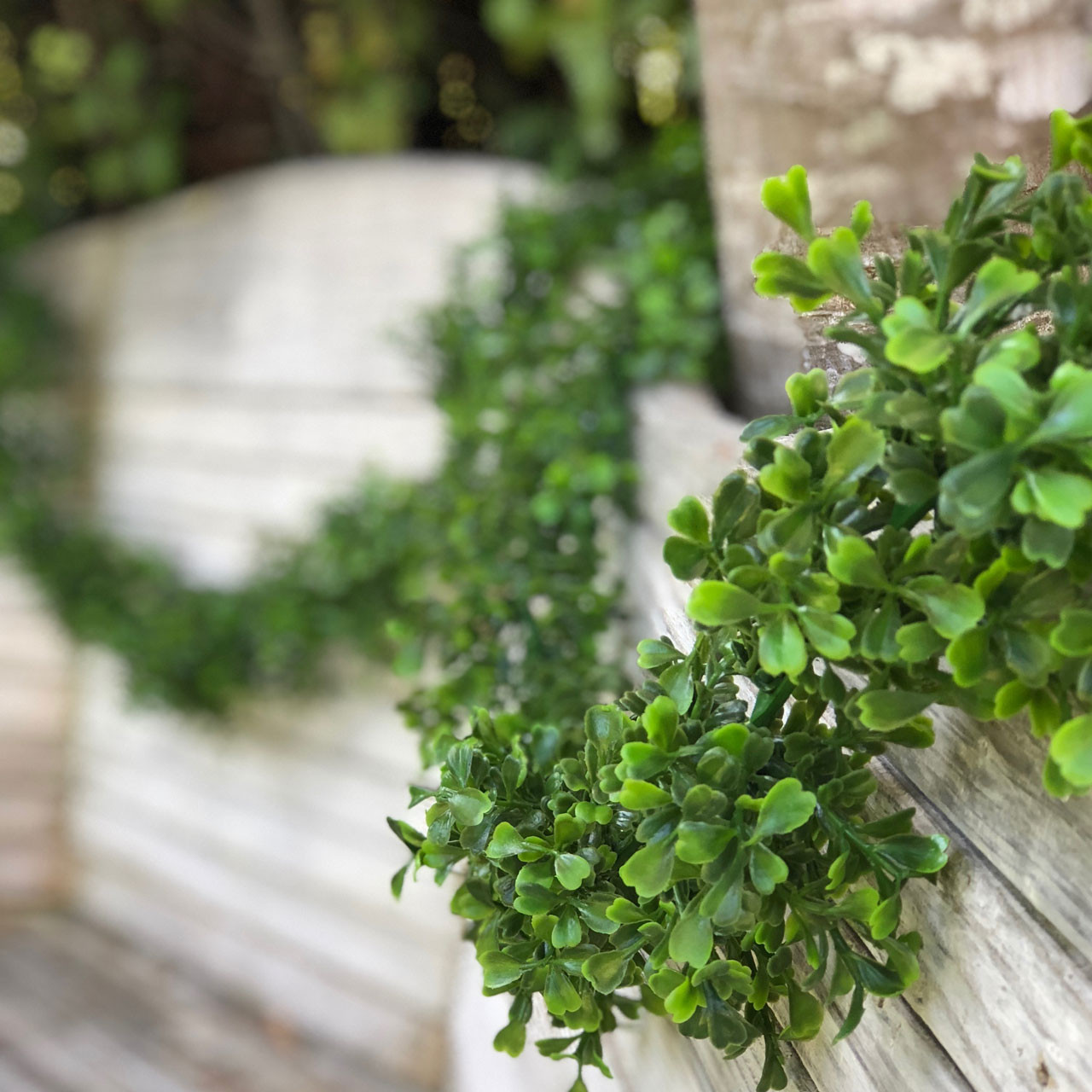 9 Ft Boxwood Faux Greenery Garland For Holiday Wedding Event And
