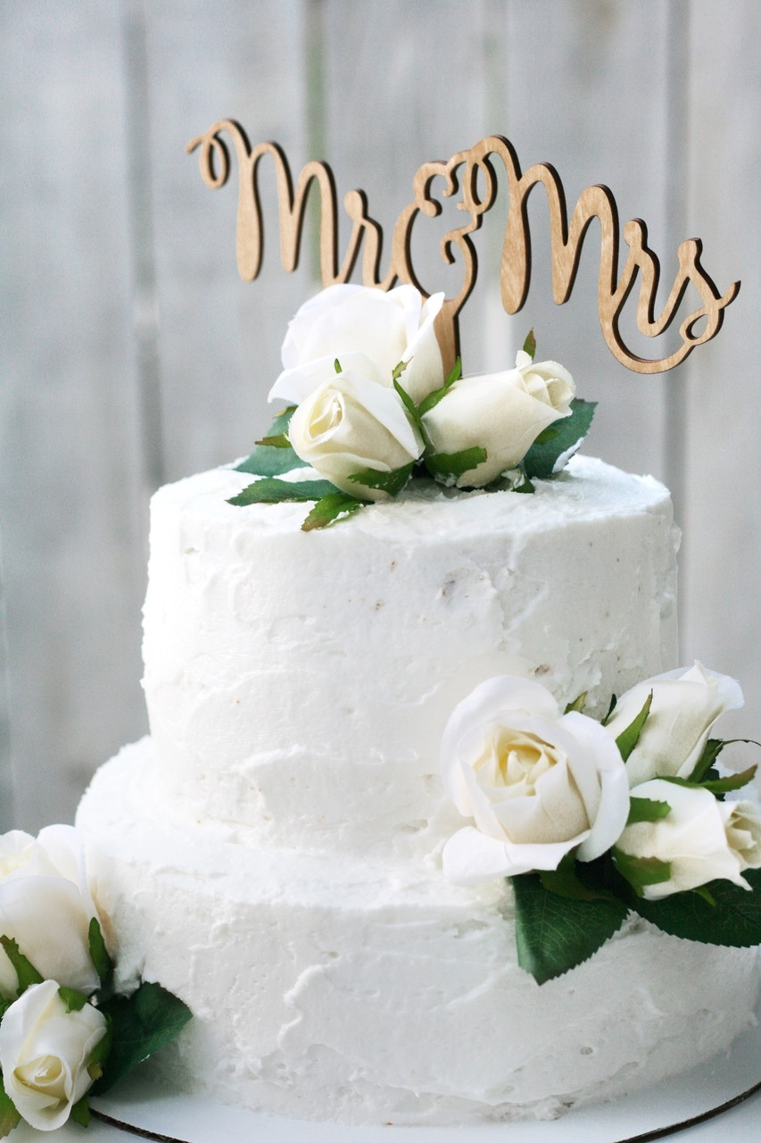 TheBridesBouquet Wood Wedding Cake Topper Package