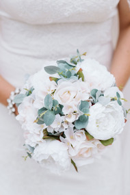Peony Blush Wedding Wedding Flowers READY TO SHIP Silk and Sola Flowers Blush Brides Bouquet Alternative Bouquet Blush Ivory Bouquet
