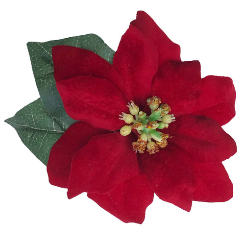 Red Christmas Flower.Red Christmas Poinsettia Velvet Holiday Wedding Silk Flower Bridal Bouquet Package 10 Pc Package