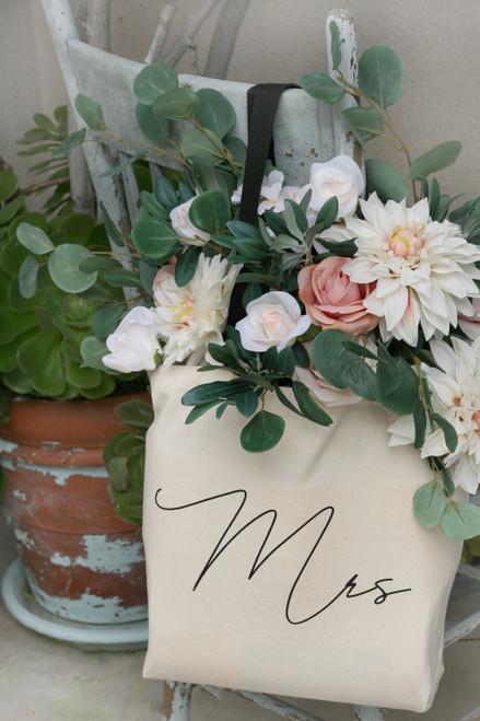 Wedding Tote Bag Bridal Shower Gifts Reusable Shopping Bag Thebridesbouquet Com