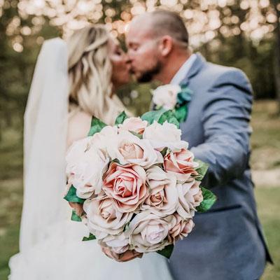 Champagne Rose Bridal Bouquet