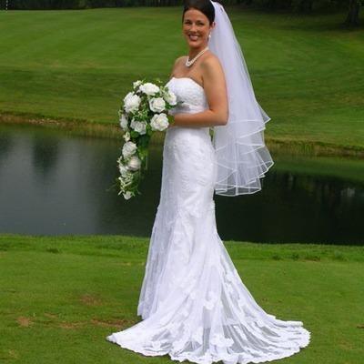 Ivory Silk Rose Cascade - Bridal Wedding Bouquet
