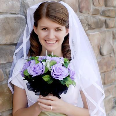 Lavender Silk Rose Nosegay - Bridal Wedding Bouquet
