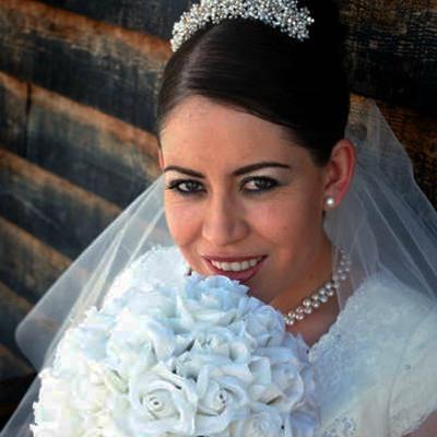 White Silk Rose Hand Tie (3 Dozen Roses) - Bridal Wedding Bouquet