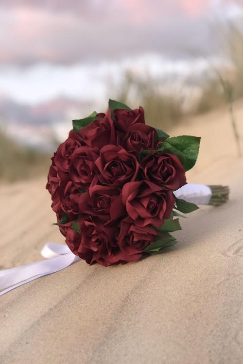 Blush Deep Red Wedding bouquet Burgundy /& pink bouquet Silk wedding flowers Bridal bouquet Faux wedding bouquet plum pink bouquet