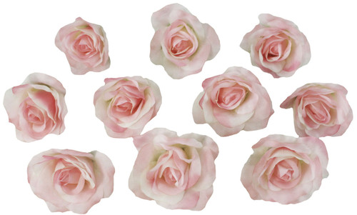 10 Pink Rose Heads Silk Flower Weddingreception Table Decorations