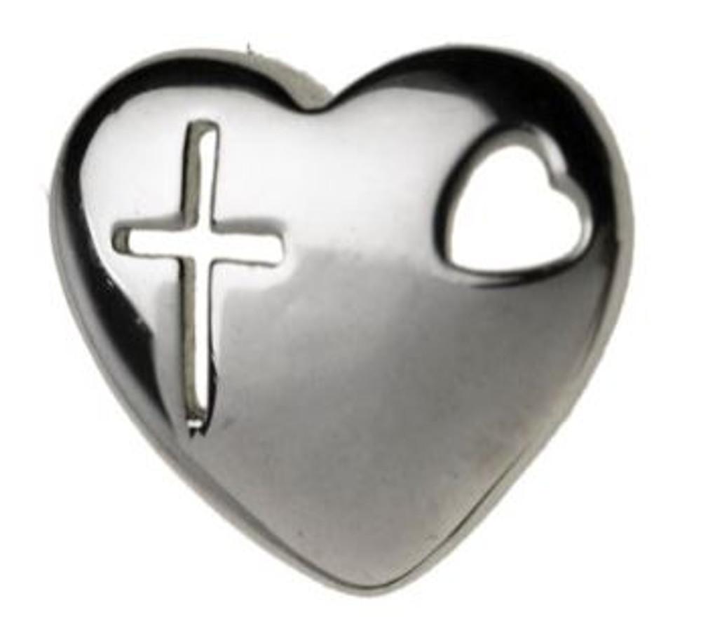 "Heart ""Cross"" Lg. Charm"