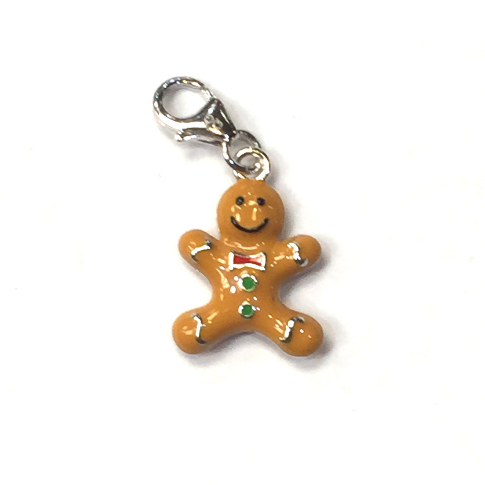 "Gingerbread Man ""Enamel"" Charm"